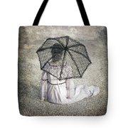 Woman On Street Tote Bag