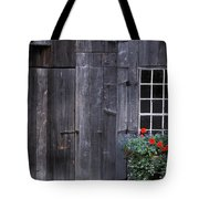 Wooden Building And Window Box Tote Bag