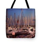 Yacht Marina Tote Bag