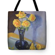 Yellow Roses And Pears Tote Bag
