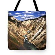 Yellowstone River Below Lower Falls  Tote Bag