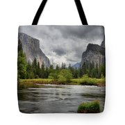 Yosemite's Valley View  Tote Bag