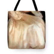 Young Lady Sitting In Satin Gown Tote Bag