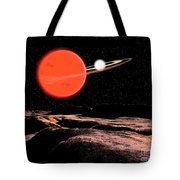 Zeta Piscium Is A Binary Star System Tote Bag