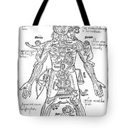 Zodiac Man, Medical Astrology Tote Bag by Science Source