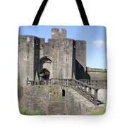 Caerphilly Castle Tote Bag