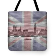 London  Skyline Big Ben Tote Bag