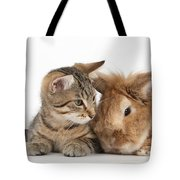 Rabbit And Kitten Tote Bag