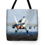An Fa-18c Hornet Launches Tote Bag