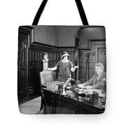 Silent Film Still: Offices Tote Bag