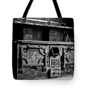 1800's Stove Black And White Tote Bag