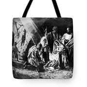 1898 Artwork Of Nativity Scene At Nativity Church Tote Bag