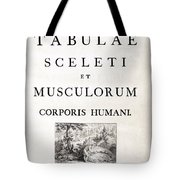 18th Century Anatomy Book Tote Bag by Science Source