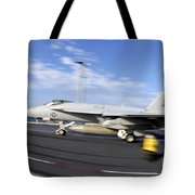 An Fa-18c Hornet Launches Tote Bag