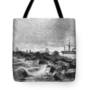 Suez Canal Construction Tote Bag by Granger