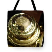 1907 Stanley Steamer - Top View Brass Tail Light Tote Bag