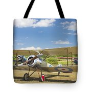 1916 Sopwith Pup Airplane On Airfield Poster Print Tote Bag
