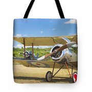 1916 Sopwith Pup Biplane On Airfield Canvas Photo Poster Print Tote Bag