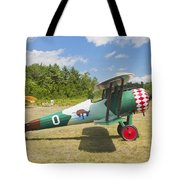 1917 Nieuport 28c.1 Antique Fighter Biplane Canvas Photo Poster Print Tote Bag