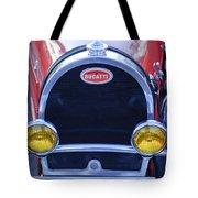 1927 Bugatti Replica Grille Headlights Tote Bag