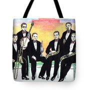 1927 New Yorkers Jazz Band Tote Bag