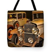 1931 La Salle Series 345r And 1929 Packard Roadster Tote Bag