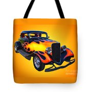 1934 Ford 3 Window Coupe Hotrod Tote Bag