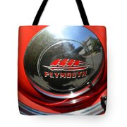 1937 Plymouth Hubcap Tote Bag