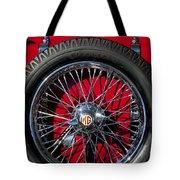 1938 Mg Ta Spare Tire Tote Bag
