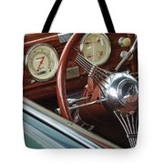 1940 Chevrolet Steering Wheel Tote Bag