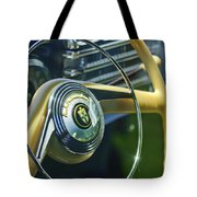 1942 Lincoln Continental Cabriolet Steering Wheel Emblem Tote Bag