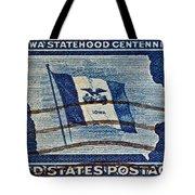 1946 Iowa Statehood Stamp Tote Bag