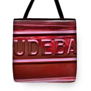1947 Studebaker Tail Gate Cherry Red Tote Bag