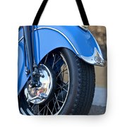 1948 Indian Chief Motorcycle Wheel Tote Bag