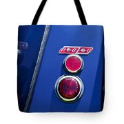 1949 Healey Silverstone Taillight Emblem Tote Bag