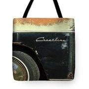 1950 Ford Crestliner Wheel Emblem Tote Bag