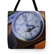 1950 Oldsmobile 88 Dashboard Clock Tote Bag