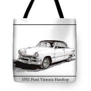 1951 Ford Victoria Hardtop Tote Bag