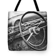 1951 Nash Ambassador Interior Bw Tote Bag