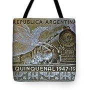 1951 Republica Argentina Stamp Tote Bag