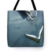 1952 Chrysler Saratoga Coupe Hood Ornament Tote Bag