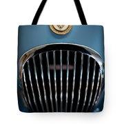 1952 Jaguar Hood Ornament And Grille Tote Bag