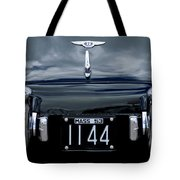 1953 Bentley Rear View License Plate Tote Bag