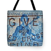 1953 The National Guard Of The U. S. Stamp Tote Bag