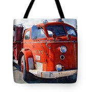 1954 American Lafrance Classic Fire Engine Truck Tote Bag
