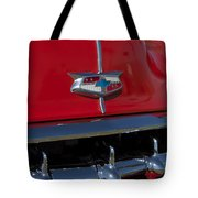 1954 Chevrolet Convertible Hood Emblem Tote Bag