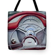 1954 Chevrolet Corvette Steering Wheel Tote Bag