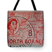 1954 North Borneo Stamp Tote Bag