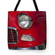 1955 Chevrolet 210 Front End Tote Bag