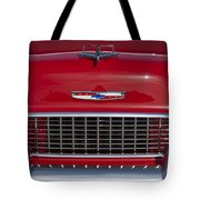 1955 Chevrolet 210 Hood Ornament And Grille Tote Bag